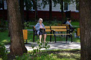 Специалисты установят во дворе района садово-парковую мебель. Фото: Анна Быкова