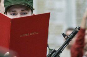 Около 500 военнослужащих Семеновского полка приняли присягу. Фото: Пелагия Замятина, «Вечерняя Москва»