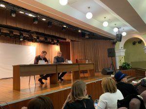 Встреча главы управы Александра Михайлова состоялась 19 февраля в Пресненском районе. Фото: Анастасия Давыдова