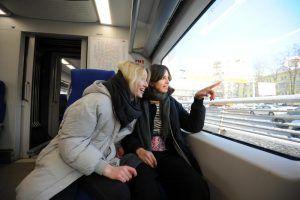 Более чем на 16 процентов увеличился пассажиропоток на МЦК в январе 2020 года. Фото: Светлана Колоскова, «Вечерняя Москва»