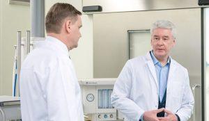 Собянин оценил ход капремонта центра амбулаторной онкопомощи ГКБ № 40. Фото: сайт мэра Москвы