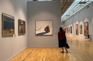 Библиотека №11 организовала выставку художественных работ. Фото: Анна Быкова.